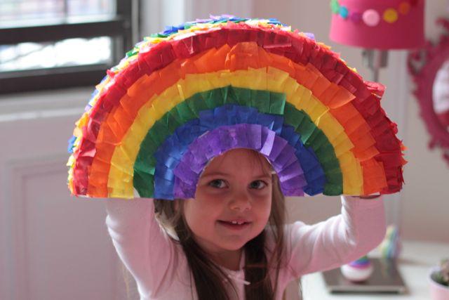 Maya's Rainbow Piñata