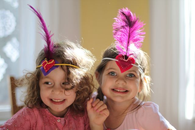 Feather Heart Headbands