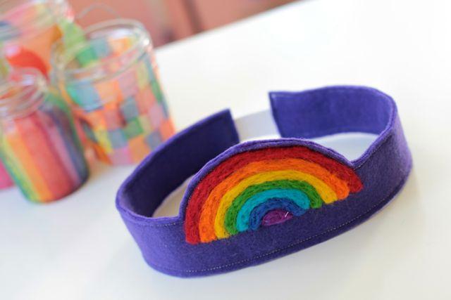 Felt Rainbow Crown