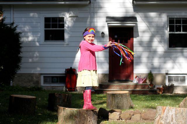 Rainbow Ribbon Wrist Bands